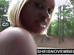 Ebony Nudist Loves Flashing Big las vegas maid sfats & Round Butt In Public
