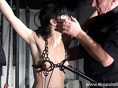 Electro sex and metro and feet punishment of slave Elise Graves