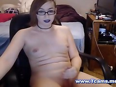Hot Shemale Toys Her Tight Clean Ass Hole