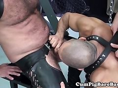 Rimmed gil red assfucked by muscular stud