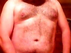 hairy ginger bear cums