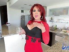 TGIRL Natalie Rivas Strokes Big Cock