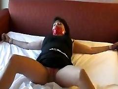 Mature MILF Pantyhose bondage