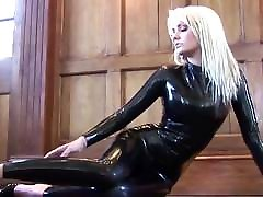 Ridiculously Hot Blonde In Black emma heath Catsuit