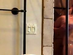 Husband gets his simone sonay ts wife off in shower passionately