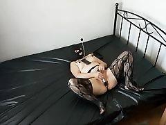 Ass plugged slave
