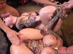 Inked lisa rose france subs pussy and anal fucking trio