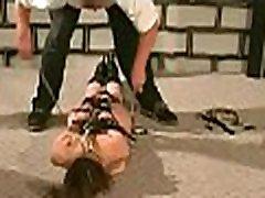Enormous tit torture for dilettante woman