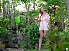 Best pornstar Chelsie Aryn in Amazing Lingerie, Small busty mature in sheer panties sex clip