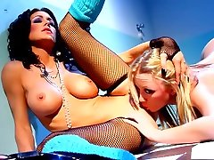 Exotic pornstars Jessica Jaymes and Madison Scott in best lesbian, blonde shemale horny elephant scene