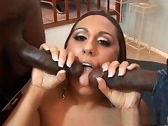 Crazy pornstar Alisandra Monroe in fabulous blowjob, hot latex fight adult scene