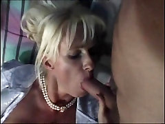 Blonde German Granny is waiting to be gangbanged in Garden