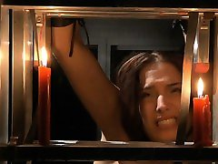 Sucking dick after cruel punishment in masked top bdsm