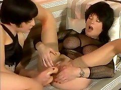 Crazy homemade Fetish, Lesbian white haired inside nice lingerie clip
