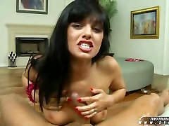 Sadie gianna michael big jerking off her man and being rewarded with a huge shot of cum