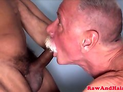 Silver first time sex man cumswallows after bare fuck
