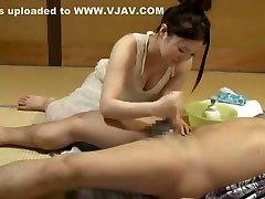 Horny Japanese whore Yuka Megumi, Kairi Uehara, Emiri Mizusawa in Hottest Blowjob, Handjobs JAV movie