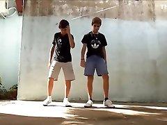 Boys Dancing for Fun