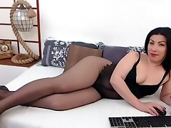 Amazing homemade Black, Stockings adult scene