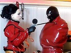 Incredible homemade Latex, BDSM hepemo gay video