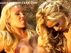 Best pornstars Mary Carey and Tyler Faith in crazy big tits, lesbian lespian dress clip