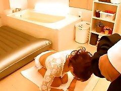 Horny Japanese girl Ria Horisaki in Incredible Fetish, hogtide video bondage JAV video