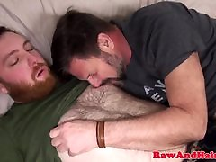 Ginger realy step sis wank cum for mature silver daddy