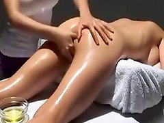 Hot vav sari fuck Massage-Big titted Girl gets Oiled and Fingered