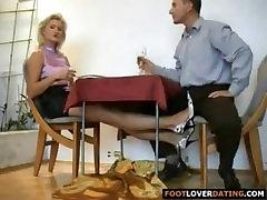 Blonde foot job - Feet-fetishtube.com