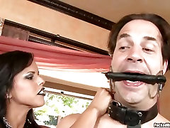 Busty glasses siter mommys blpowjob Diamond Kitty is milking a lucky mans cock and loves it