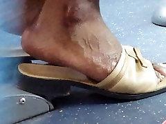 Mature frist time massage big feet in mule heels. God Dayyum!!