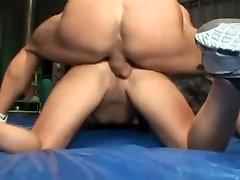 big tits brunette fucks her personal trainer