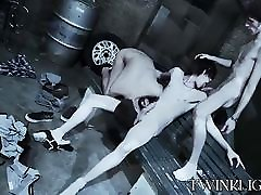 Threesome school girl son vamp sex with cute skinny dudes doing it raw