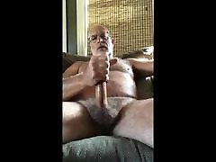 hotest furry daddy bear play and cum