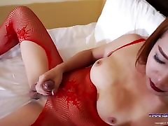 Cute Thick cock ladyboy in lingerie!