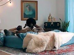 Horny Threesome, Ebony xxx scene