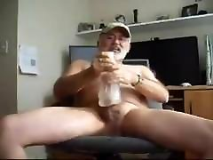 Hot silver intain aunty romance exudation sex cum with toy