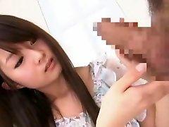 Exotic Japanese chick Shizuka Minamoto in Incredible Handjobs JAV scene