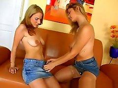 A pair of dreamy hina otsulia teens make each other moan in pleasure