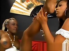 Black lesbians have a foot amsterdam small and the desire to cum from their toys