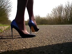 walking in blue young german babes ombre shoes.