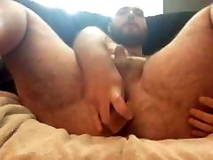 Bear playing with his ass