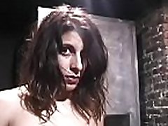 Hot and heavy bdsm scenery with young blindfolded playgirl