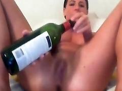 Amateur - Little Tits seachpa tira Babe - Wine Bottle on Cam