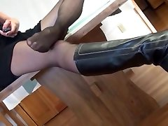 Mature lady in black pantyhosed xxx teacher two makes my cock rock hard