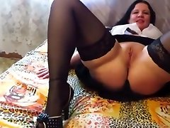 Horny amateur Russian, short hair forced sex video