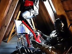 Rubber latex mistress bdsm slave torture