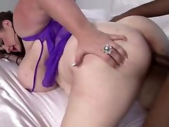 Huge titted bbw gets three man fukeing dick