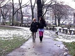 Old and young ld man teen girl Frederica and Rashinda go naughty