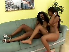 Fiery woodman nancy slim lesbians get each other off with their big sex toys